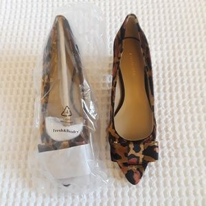 1533c1139d3f Ann Taylor Shoes | Jolene Leopard Velvet Bow Pump | Poshmark